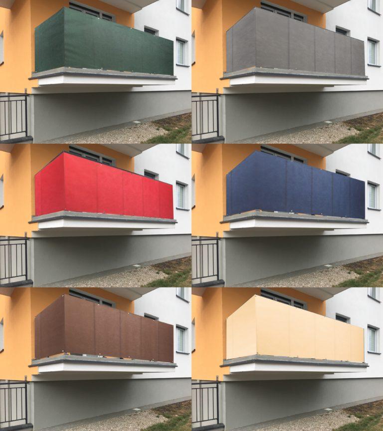 Balkon – zasłonięcie balustrady
